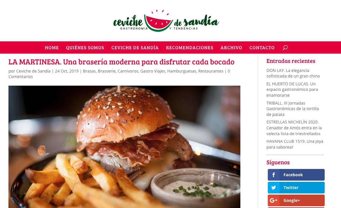 La Martinesa en Ceviche de Sandía