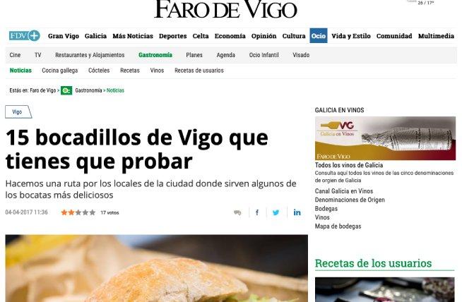 La Martinesa en El Faro de Vigo