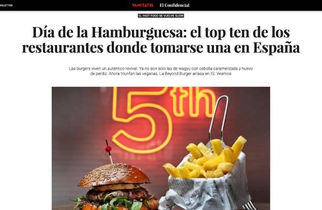 Hamburguesa a la Brasa de La Martinesa en Vanitatis